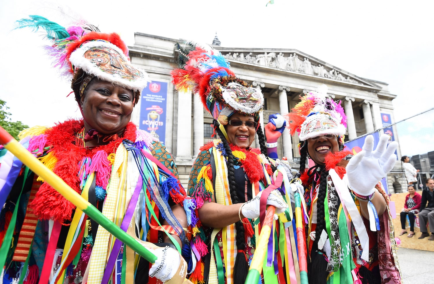 Women in colourful costumes